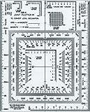 Westcott UTM Joint Plotter/Map Reader, 5'' by 6'', Transparent (GR-4)