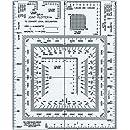 "Westcott UTM Joint Plotter/Map Reader, 5"" by 6"", Transparent (GR-4)"