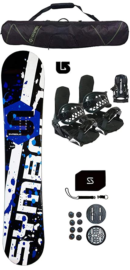 a3bc25c07 Amazon.com   Symbolic 369 Men s Snowboard +Black Bindings+Bag+Leash+ ...
