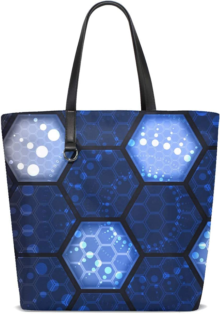 Hexes Numbers Network Tote Bag Purse Handbag For Women Girls