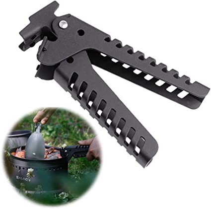 Backpacking Camping Anti-skid Support Portable Pot Gripper Holder Handle Clamp