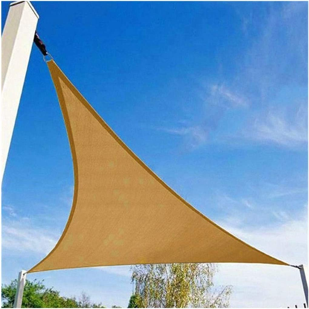 Vela de Sombra Toldo Vela para Jardin Patio Pabellón de la Vela de la Sombra, Pabellón Pérgola Jardín Triángulo Impermeable 3x3m 4x5 M 185 GSM 95% UV Sombra Exterior Pantalla de Protección