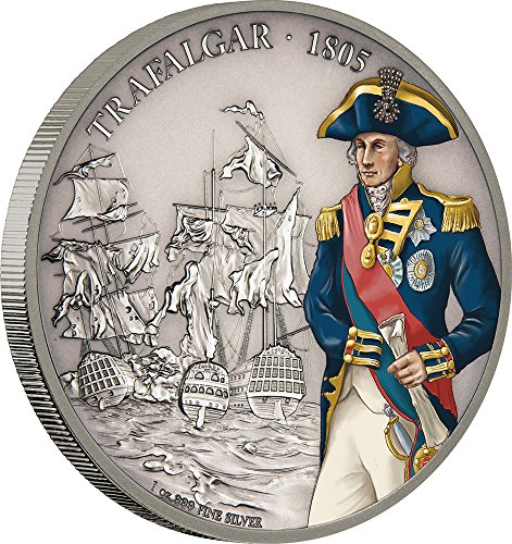 2017 NU Battles That Changed History BATTLE OF TRAFALGAR 1 Oz Silver Coin 2$ Niue 2017 1 Oz Antique Finish