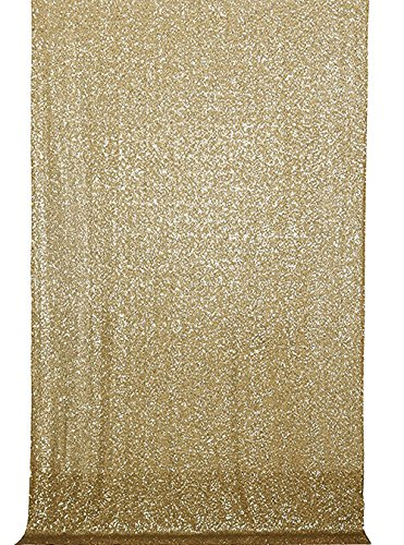 Dallas Stars Drapes (Langxun 4.3ft X 6.5ft Gold Shimmer Sequin Fabric Photo Booth Backdrop Sequin for Birthday Party Background Curtain, Wedding Decorations, Christmas Decorations)