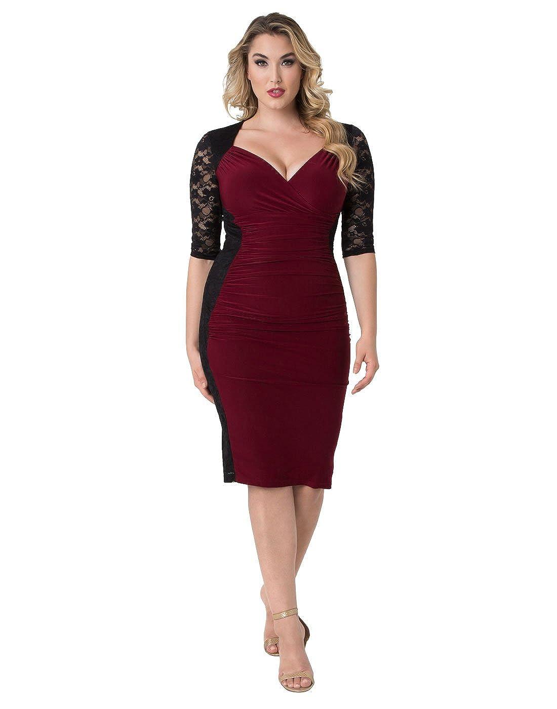 Kiyonna Women\'s Plus Size Valentina Illusion Dress