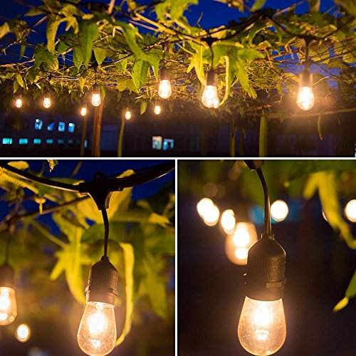 EAGWELL Outdoor String Lights - Heavy Duty Hanging Patio Cafe Pergola Rope Lig eBay