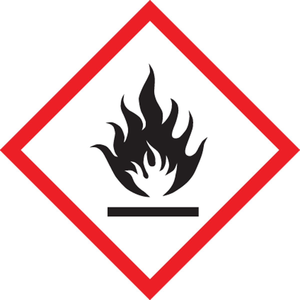 "Accuform LZH611EV2 GHS Label, FLAME Pictogram, 2"" x 2"", Adhesive Poly Sheet, 250/Roll (Pack of 250)"
