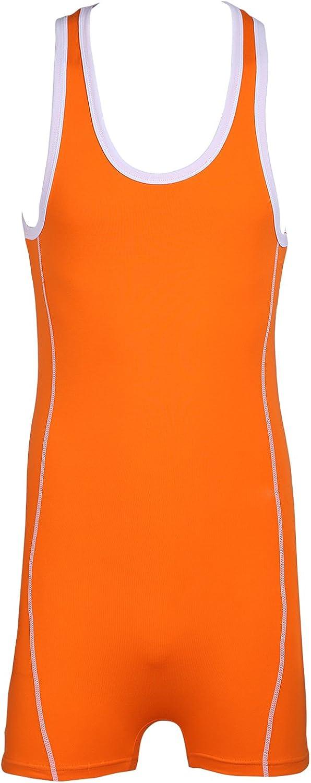 CHICTRY Men's Sleeveless On Piece Bodysuit Leotard Stretchy Singlet Gymnastics Underwear
