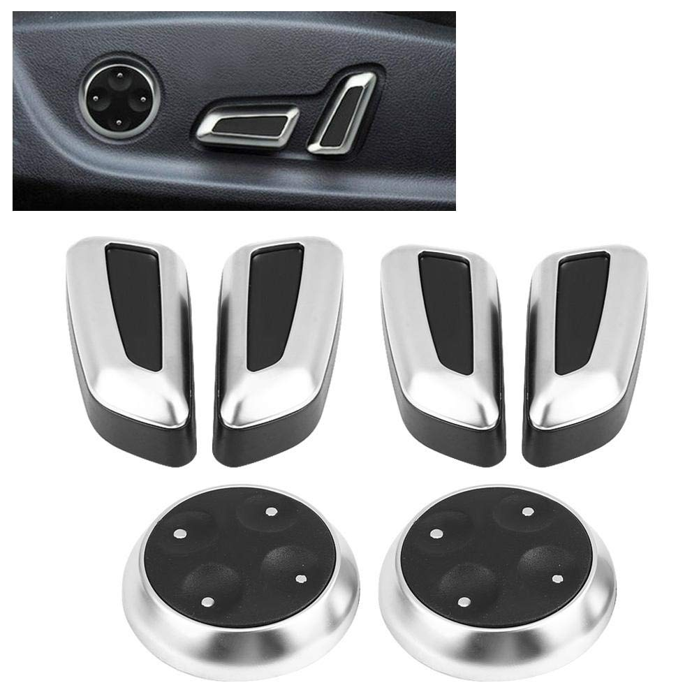 Hilitand 6 St/ück Auto Sitzverstellung Knopf Taste Schalter Abdeckung Trim