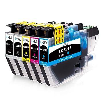 LxTek Compatible para Brother LC3213 LC-3213 Cartuchos de Tinta para Brother DCP-J572DW MFC-J491DW MFC-J497DW MFC J890DW MFC J895DW DCP J774DW DCP ...