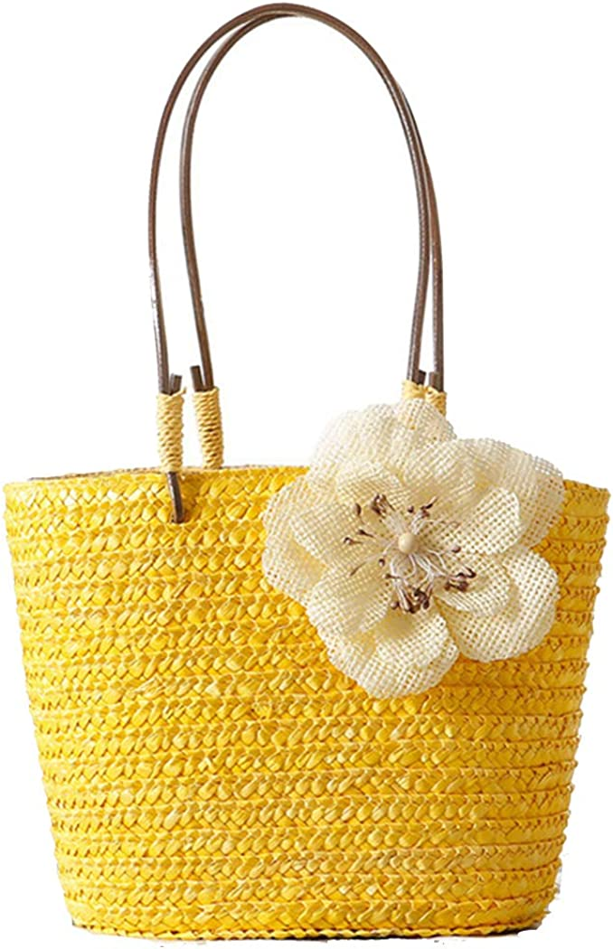 Straw Handbag Women Top...
