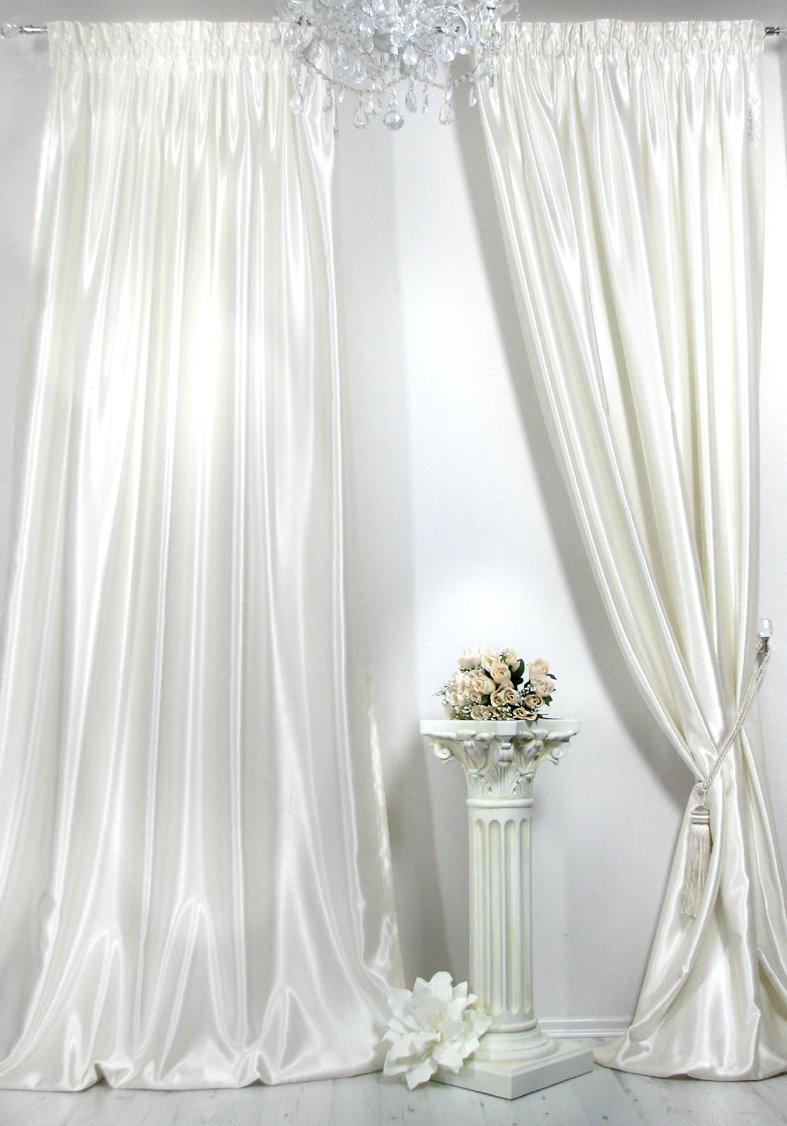 Vorhänge, 1 Satin-Vorhang Farbe ecru der Marke Trendoro. Maße: 150 x ...