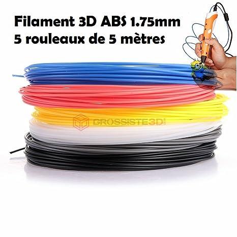 Grossiste3D - Surtido de hilo ABS para bolígrafo 3D o impresora 3D ...