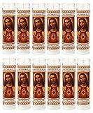 Sacred Heart of Jesus Religious Candle, White, 12pk (1 Case)