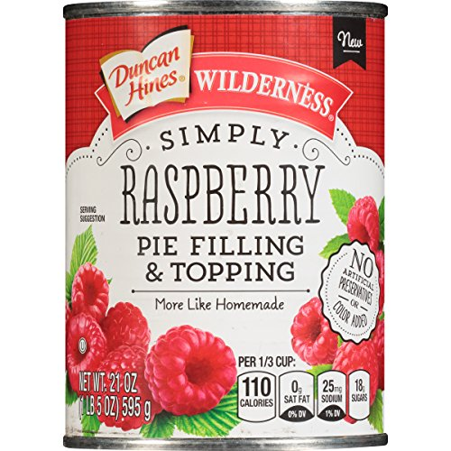 Wilderness Simply Pie Filling & Topping, Raspberry, 21 Ounce ()