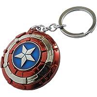 Techpro Multicolor Avengers Superhero Captain America Shield Keyrings & Keychains