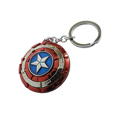 0baf469d037 Techpro Multicolor Avengers Superhero Captain America Shield Keyrings    Keychains  Amazon.in  Bags