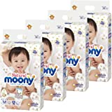 unicharm Natural moony 纸尿裤 胶带式 柔软 M (6~11kg) 192片 (48片×4) 不添加