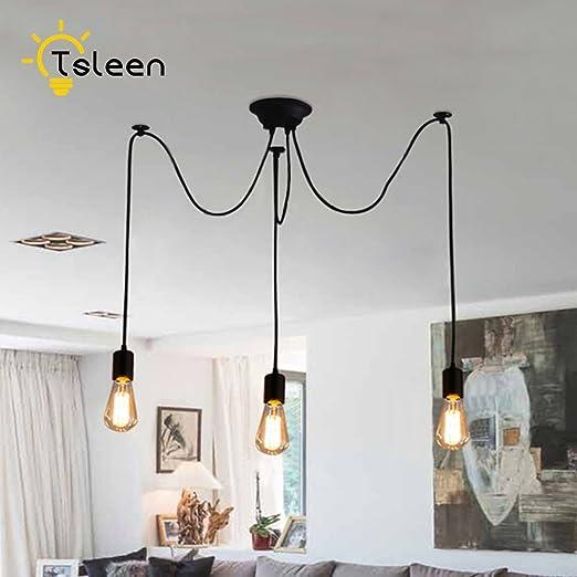 YCDC Nordic araña lámpara de Techo Loft decoración clásica 3 ...