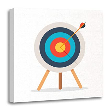 Amazon.com: Emvency Canvas Prints Square 16x16 Inches Archery Target ...