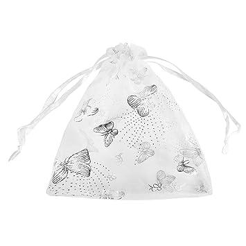 Amazon.com: Housweety – Cordón de organza bolsas joyería ...