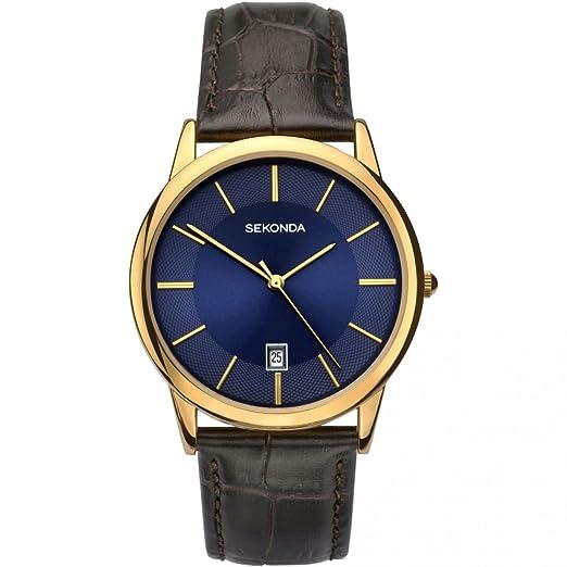 f1bfd58809b6 SEKONDA Unisex-Adult Analogue Classic Quartz Watch with Leather Strap  1371.27: Amazon.co.uk: Watches