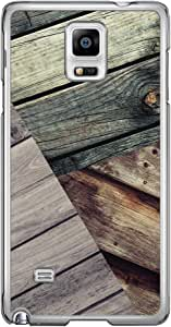 Loud Universe Samsung Galaxy Note 4 Madala N Marble A Wood 11 Printed Transparent Edge Case - Brown