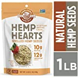 Manitoba Harvest Hemp Hearts Raw Shelled Hemp Seeds, 1lb; with 10g Protein & 12g Omegas per Serving, Non-GMO, Gluten Free - Packaging May Vary (2 Pouch(1lb))