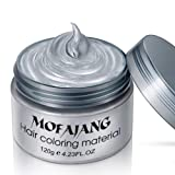 MOFAJANG Hair Coloring Dye Wax, Ash Grey Instant