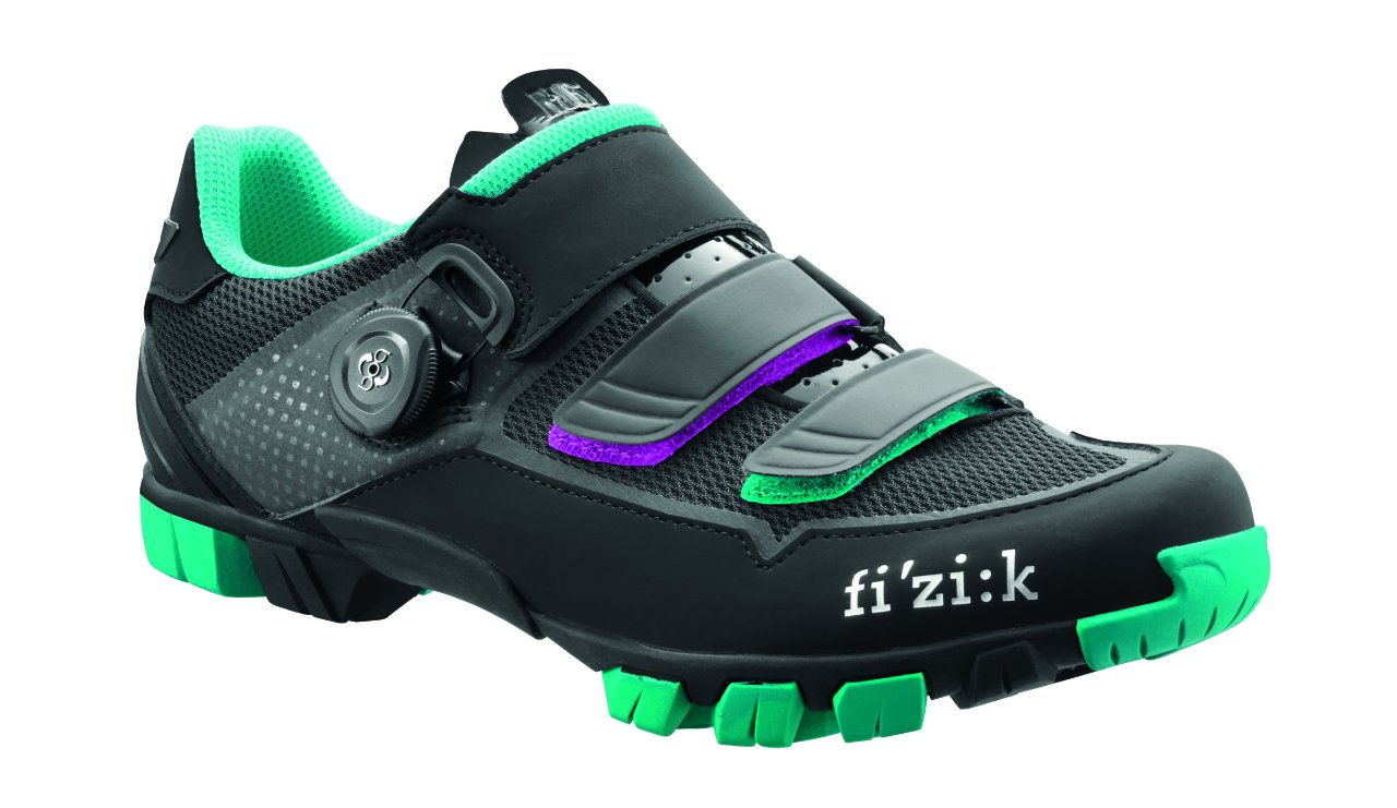Fizik Women's M6 Donna BOA Mountain Cycling Shoes, Black/Anthracite/Emerald Green, Size 40.5  Black/Anthracite/Emerald Green by Fizik