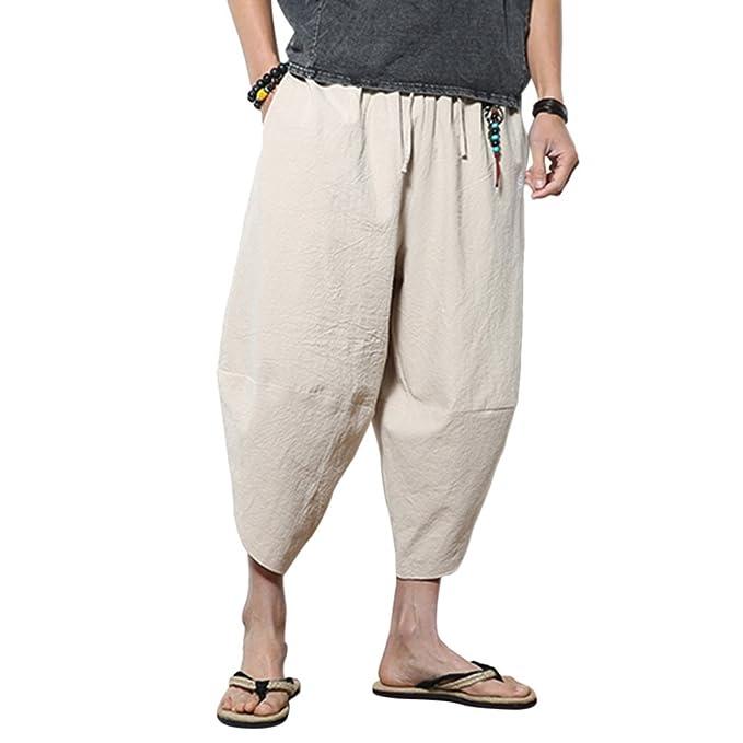 Zhuhaitf Loose Harem Aladdin Pantalones Bombachos-Hombre ...