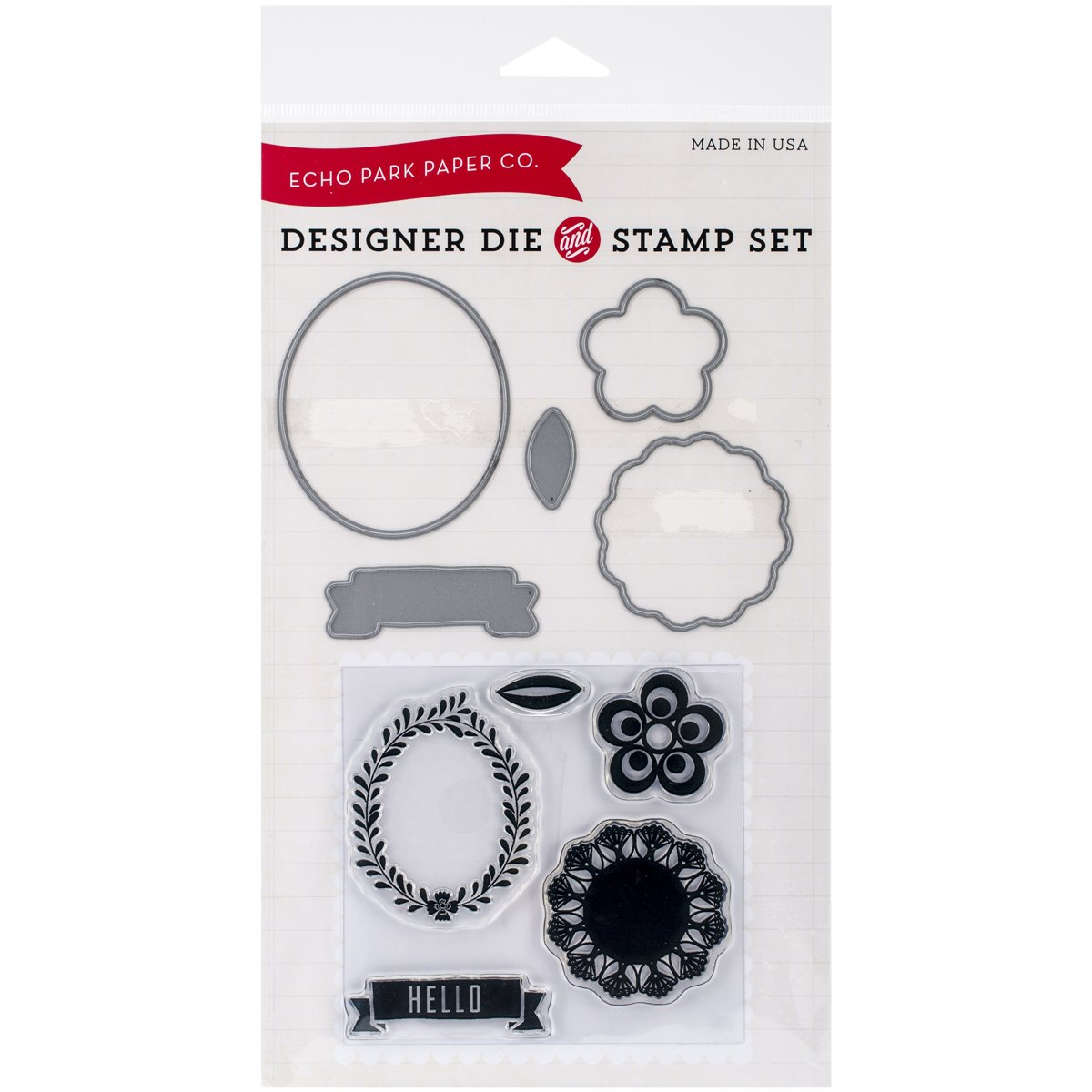 Echo Park Paper Company Simple Hello Die and Stamp Combo by Echo Park Paper B00KQKQ8PA