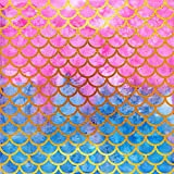 Tang Jie 6x6FT Mermaid Theme Photo Background Studio Prop Kid Birthday Party Decoration Supplies Photography Baby Shower Backdrops Vinyl Booth tj016
