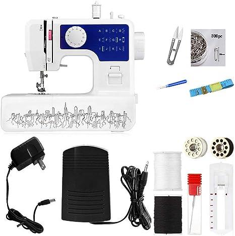 KKDWJ Mini máquina de coser eléctrica doméstica, máquina de coser ...