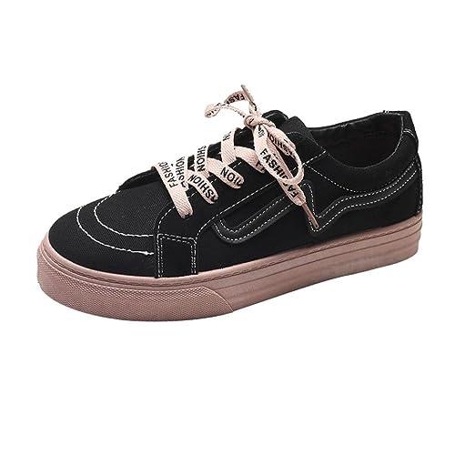 Zapatillas de Deportivo para Mujer Otoño Invierno 2018 Moda PAOLIAN Aire Libre y Deporte de Exterior Calzado de Dama Lona Plano Casual Zapatos Escolares ...