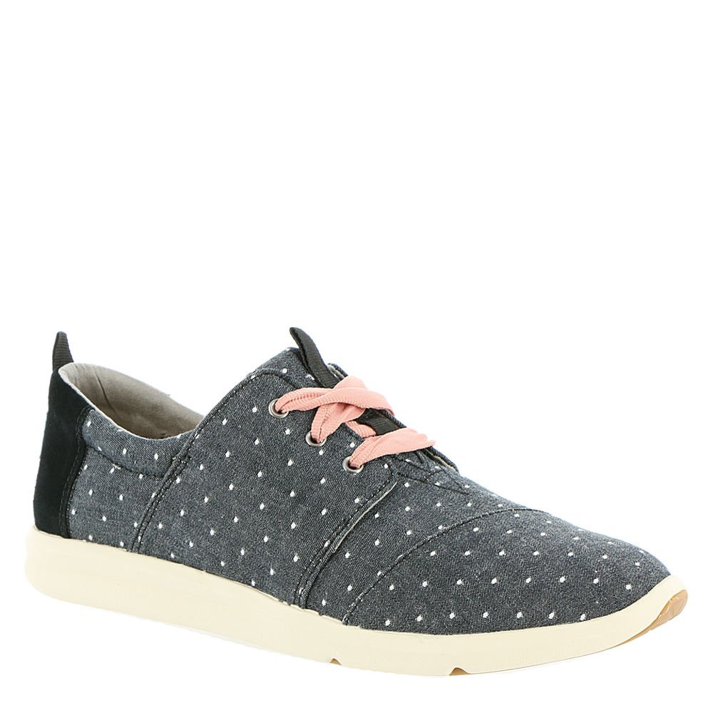 TOMS Women's Del Rey Black Dot Chambray 8 B US