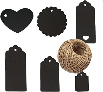 120pcs Negro surtidos con forma de corazón redondo rectangular ...
