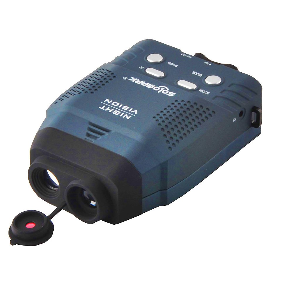 Solomark Night Vision Monocular, Blue-Infrared Illuminator Allows Viewing in The Dark - Records Images and Video by SOLOMARK