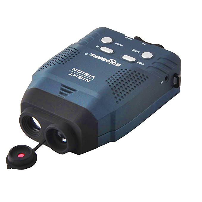 Solomark Night Vision Monocular, Blue-Infrared Illuminator Allows Viewing in The Dark