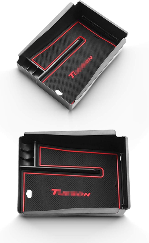 Nur f/ür elektrische parkbremse RUIYA Aufbewahrungsbox Aufbewahrungskiste Mittelkonsole Veranstalter Armlehne Box angepasst f/ür 2015-2020 H yundai Tucson 2