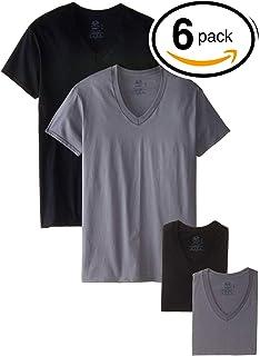 61103fd9009 Amazon.com  Fruit of the Loom Men s Tucked V-Neck T-Shirt  Clothing