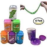 Cristal Slime, Magic Clear Slime argile de mastic, Soft Sludge Stress soulagement de stress Sludge Toy pour enfants adultes, 6-Pack-12 oz