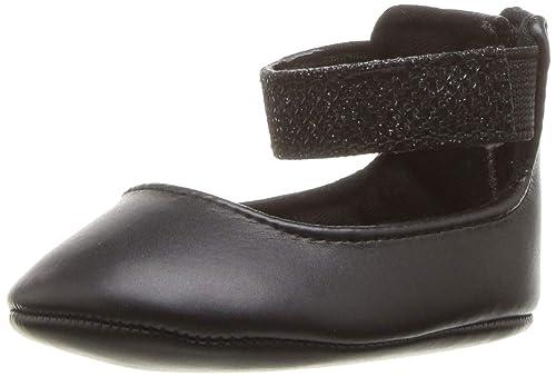 Nine West Girls Faye 2 Crib Shoe, Black M000 M US Infant