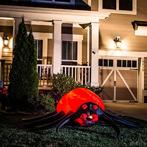 Gemmy Halloween Inflatable 8' Animated Projection Fire & Ice Spider]()