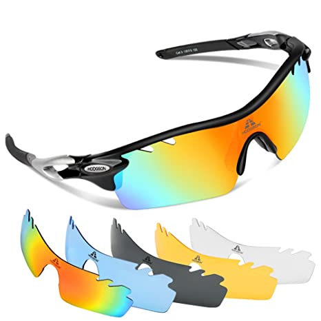 c2a43095c2b Image Unavailable. Image not available for. Color  HODGSON Polarized Sports  Sunglasses ...