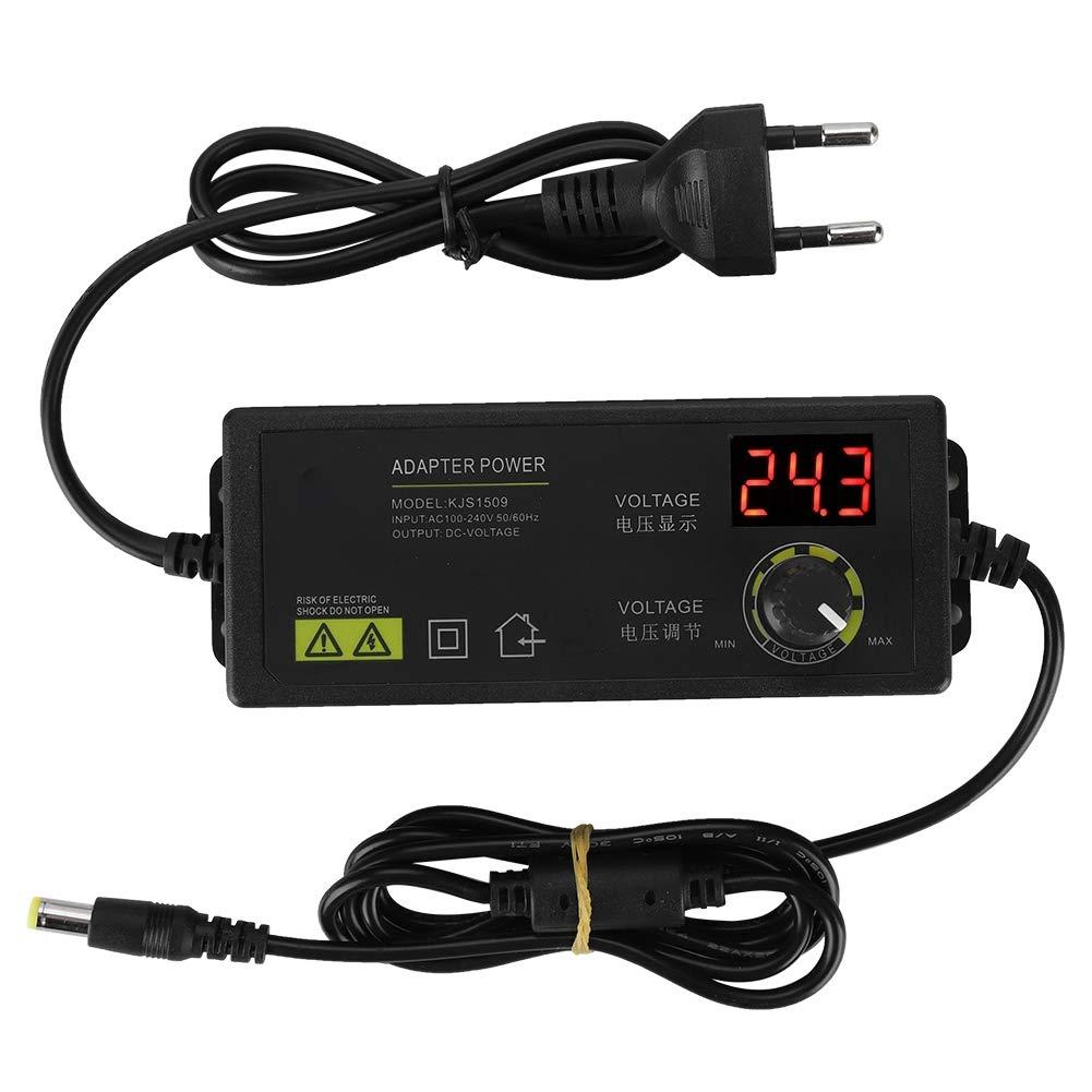 Tonysa 72A / 9-24V Adaptateur Secteur Réglable, Adaptateur d'alimentation Tension Rglable Cntrôle de Vtesse avec Affichage LED -100-240V EU