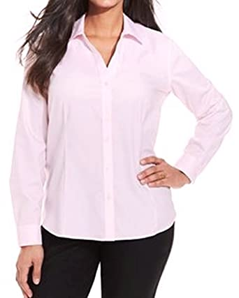 d7826d261339a Amazon.com  Jones New York Women s Plus Size Long Sleeve Easy Care Shirts  (14W
