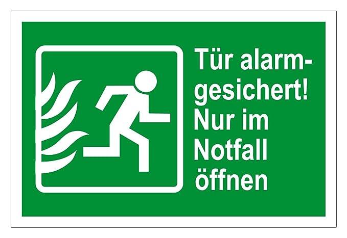 Cartel de Rescate - Puerta con protección de Alarma. Abrir ...