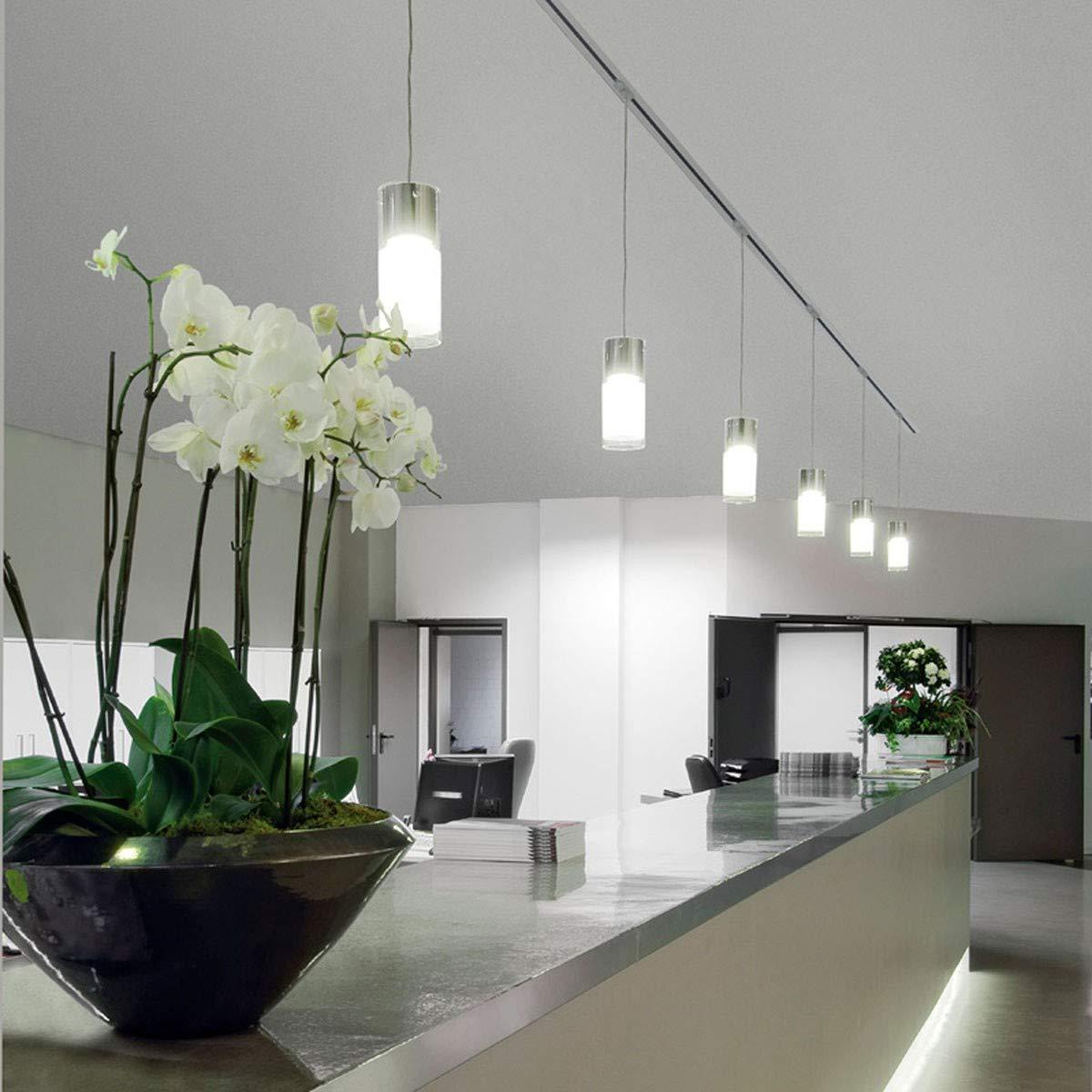 Silbergrau SLV COMMO Leuchte Indoor-Lampe Stahl Glas Silber Lampe innen, Innen-Lampe