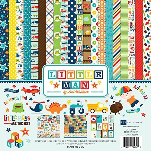 Echo Park Paper Company LM99016 Little Man Collection (Boy Scrapbook Paper)
